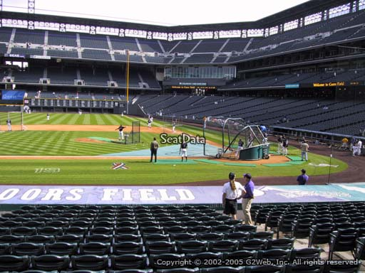 Seat view from section 137 at Coors Field, home of the Colorado Rockies