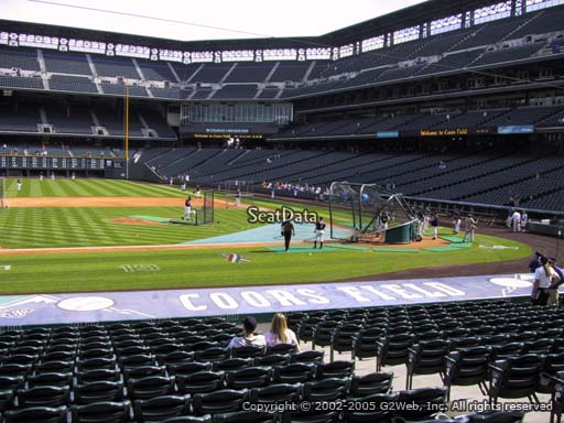 Seat view from section 138 at Coors Field, home of the Colorado Rockies