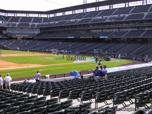 Seat view from section 141 at Coors Field, home of the Colorado Rockies