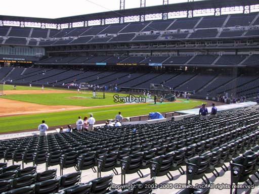 Seat view from section 142 at Coors Field, home of the Colorado Rockies