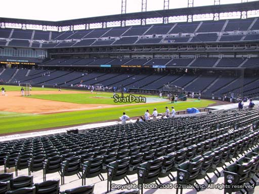 Seat view from section 143 at Coors Field, home of the Colorado Rockies