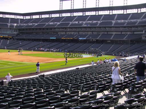 Seat view from section 144 at Coors Field, home of the Colorado Rockies