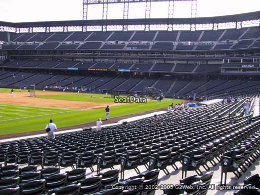 Seat view from section 145 at Coors Field, home of the Colorado Rockies