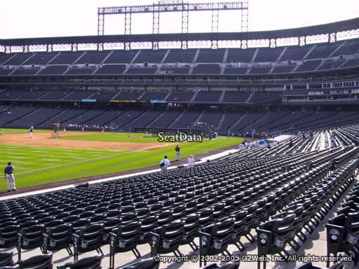 Seat view from section 146 at Coors Field, home of the Colorado Rockies