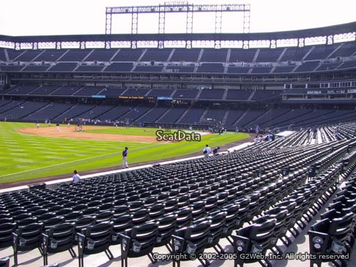 Seat view from section 147 at Coors Field, home of the Colorado Rockies