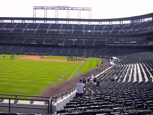 Seat view from section 150 at Coors Field, home of the Colorado Rockies