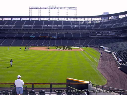 Seat view from section 151 at Coors Field, home of the Colorado Rockies