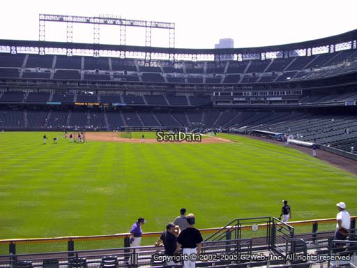 Seat view from section 153 at Coors Field, home of the Colorado Rockies