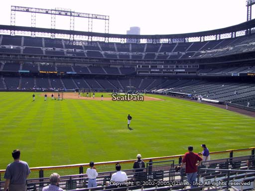 Seat view from section 154 at Coors Field, home of the Colorado Rockies