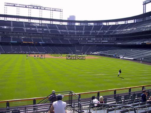 Seat view from section 155 at Coors Field, home of the Colorado Rockies