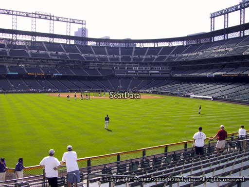 Seat view from section 157 at Coors Field, home of the Colorado Rockies