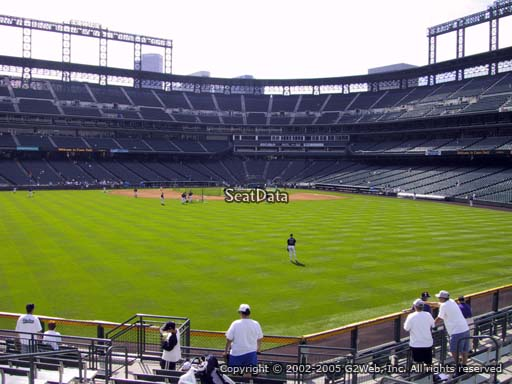 Seat view from section 158 at Coors Field, home of the Colorado Rockies