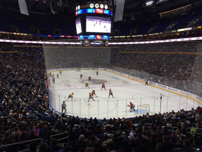 Seat view from section 200 at KeyBank Center, home of the Buffalo Sabres
