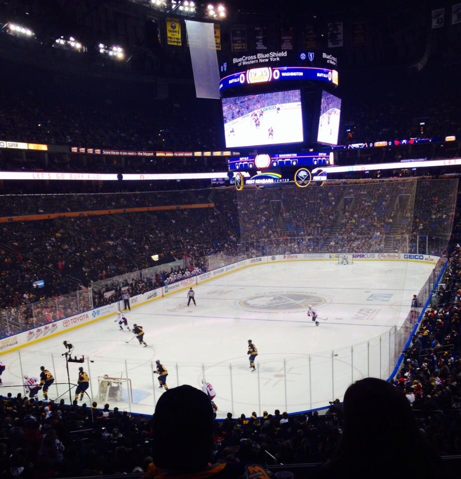 Seat view from section 224 at KeyBank Center, home of the Buffalo Sabres