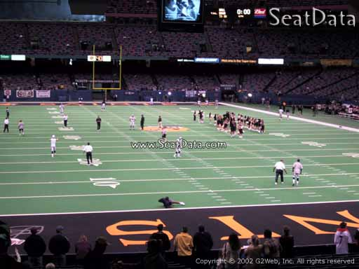 Seat view from section 102 at the Mercedes-Benz Superdome, home of the New Orleans Saints