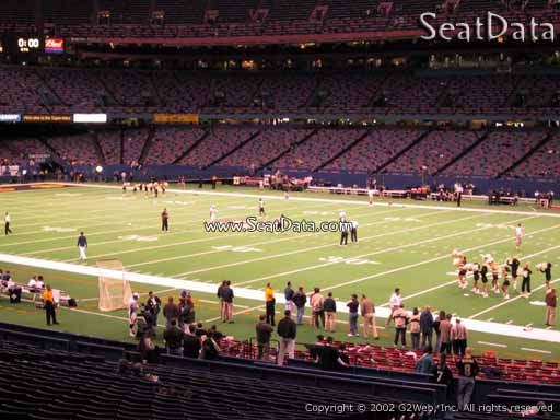 Seat view from section 109 at the Mercedes-Benz Superdome, home of the New Orleans Saints