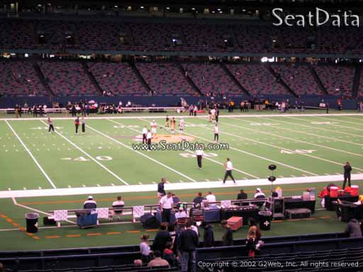 Seat view from section 116 at the Mercedes-Benz Superdome, home of the New Orleans Saints