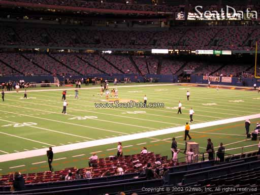 Seat view from section 120 at the Mercedes-Benz Superdome, home of the New Orleans Saints