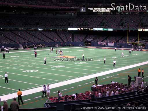 Seat view from section 121 at the Mercedes-Benz Superdome, home of the New Orleans Saints