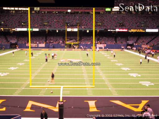 Seat view from section 128 at the Mercedes-Benz Superdome, home of the New Orleans Saints