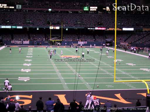 Seat view from section 129 at the Mercedes-Benz Superdome, home of the New Orleans Saints