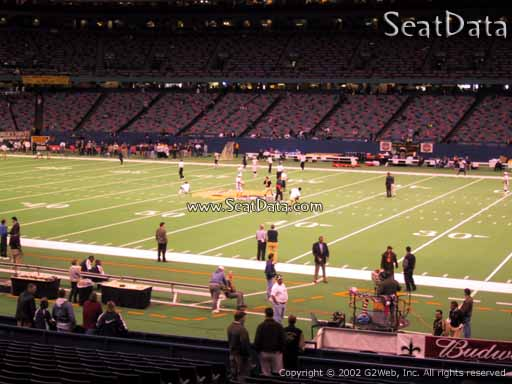Seat view from section 139 at the Mercedes-Benz Superdome, home of the New Orleans Saints