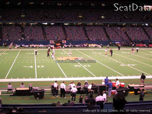 Seat view from section 143 at the Mercedes-Benz Superdome, home of the New Orleans Saints