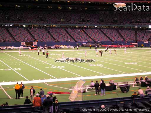 Seat view from section 145 at the Mercedes-Benz Superdome, home of the New Orleans Saints