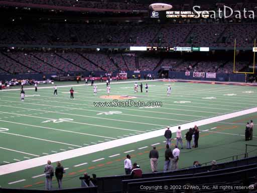 Seat view from section 149 at the Mercedes-Benz Superdome, home of the New Orleans Saints