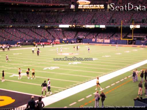 Seat view from section 150 at the Mercedes-Benz Superdome, home of the New Orleans Saints