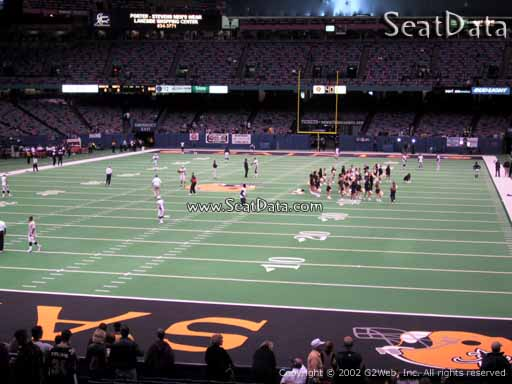 Seat view from section 154 at the Mercedes-Benz Superdome, home of the New Orleans Saints