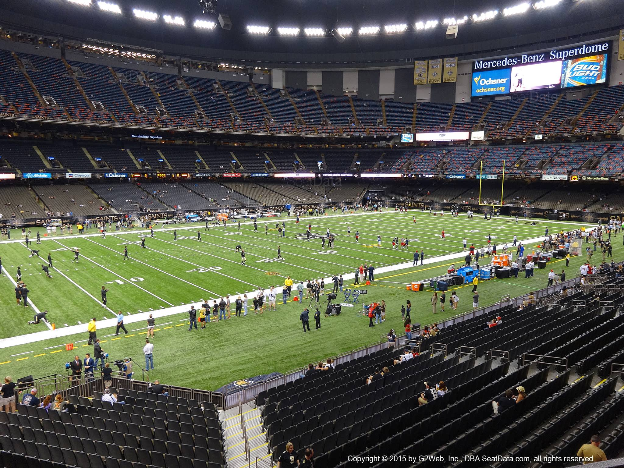 Seat view from section 231 at the Mercedes-Benz Superdome, home of the New Orleans Saints