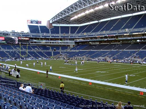 Seat view from section 104 at CenturyLink Field, home of the Seattle Seahawks