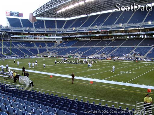 Seat view from section 105 at CenturyLink Field, home of the Seattle Seahawks