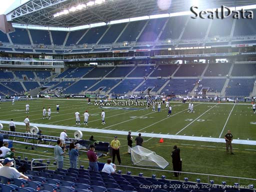 Seat view from section 107 at CenturyLink Field, home of the Seattle Seahawks