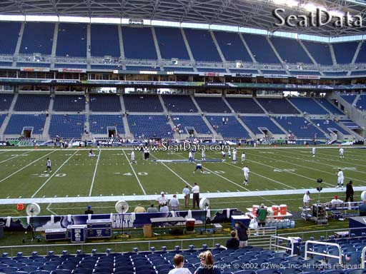 Seat view from section 110 at CenturyLink Field, home of the Seattle Seahawks