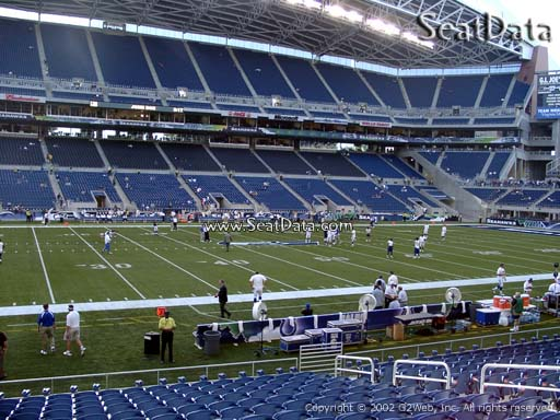 Seat view from section 111 at CenturyLink Field, home of the Seattle Seahawks