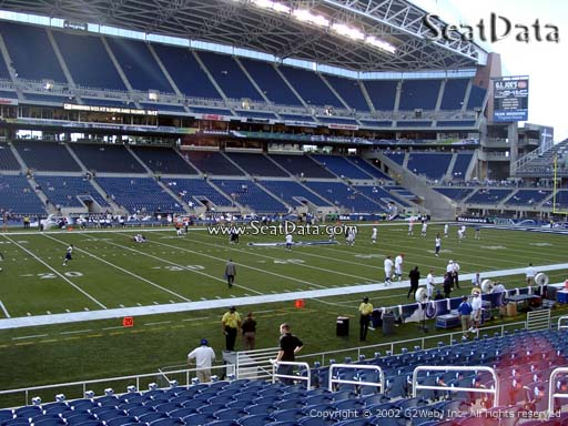 Seat view from section 112 at CenturyLink Field, home of the Seattle Seahawks