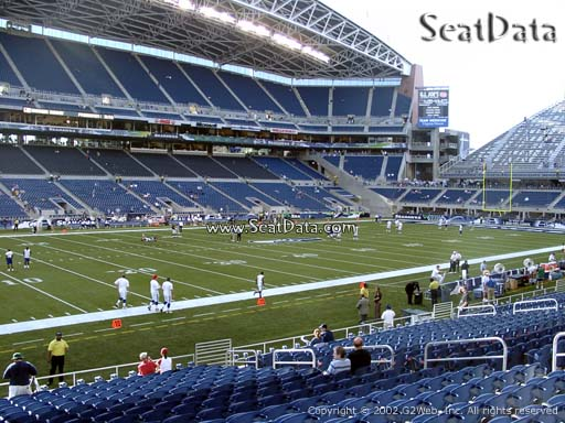 Seat view from section 113 at CenturyLink Field, home of the Seattle Seahawks