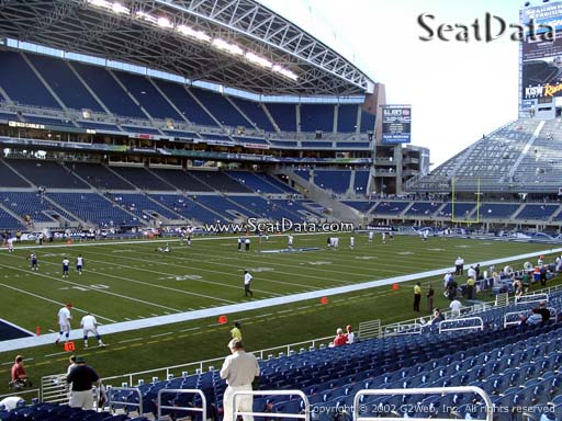 Seat view from section 114 at CenturyLink Field, home of the Seattle Seahawks