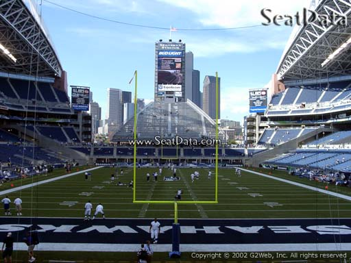 Seat view from section 122 at CenturyLink Field, home of the Seattle Seahawks