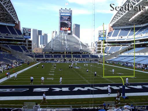 Seat view from section 123 at CenturyLink Field, home of the Seattle Seahawks