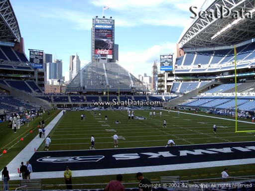 Seat view from section 124 at CenturyLink Field, home of the Seattle Seahawks
