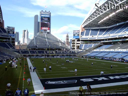 Seat view from section 125 at CenturyLink Field, home of the Seattle Seahawks
