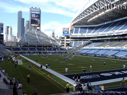 Seat view from section 126 at CenturyLink Field, home of the Seattle Seahawks