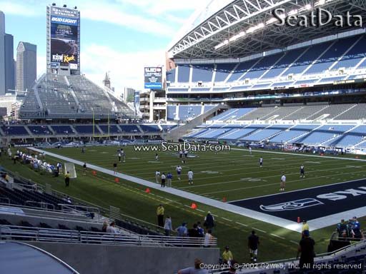 Seat view from section 127 at CenturyLink Field, home of the Seattle Seahawks