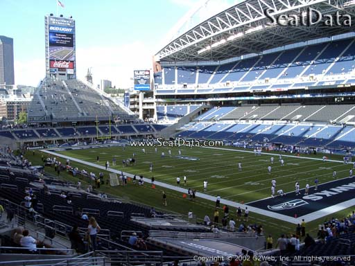 Seat view from section 128 at CenturyLink Field, home of the Seattle Seahawks