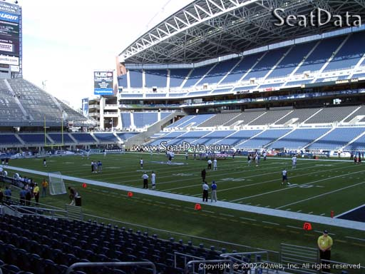 Seat view from section 130 at CenturyLink Field, home of the Seattle Seahawks
