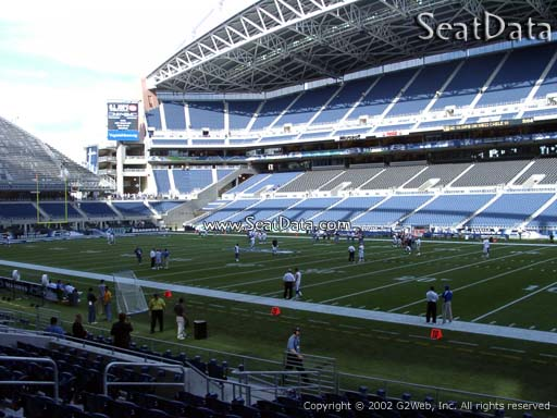 Seat view from section 131 at CenturyLink Field, home of the Seattle Seahawks