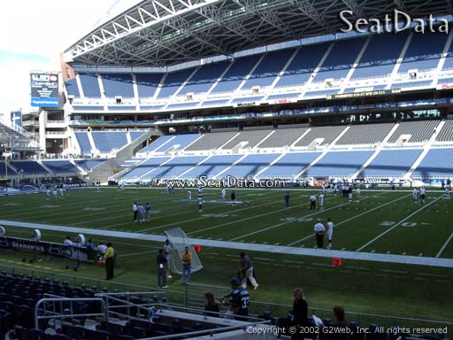 Seat view from section 132 at CenturyLink Field, home of the Seattle Seahawks